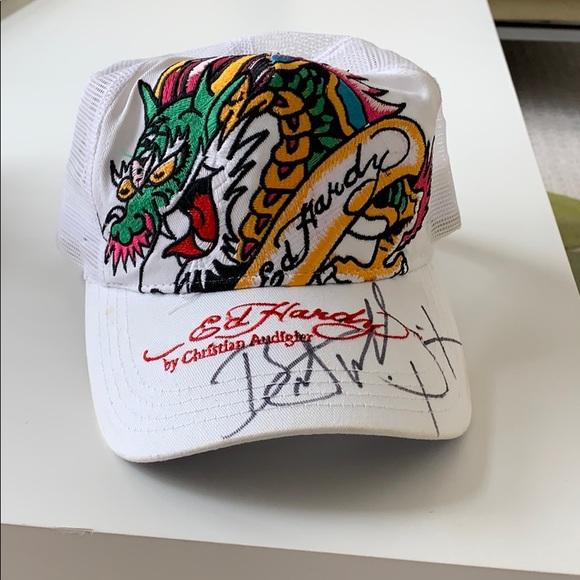 679696d2b Bret Michaels autographed Ed Hardy ballcap
